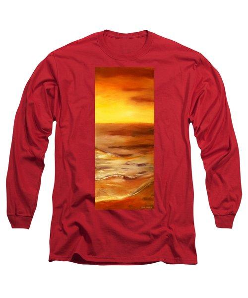 Brushed 5 - Vertical Sunset Long Sleeve T-Shirt