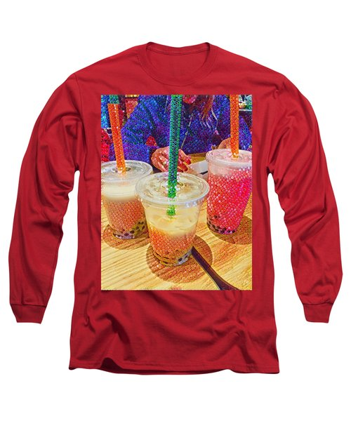 Bubble Tea For Three Long Sleeve T-Shirt