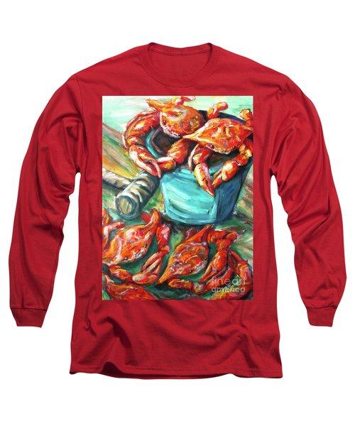 Bucket O Crabs Long Sleeve T-Shirt
