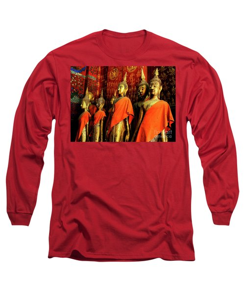 Long Sleeve T-Shirt featuring the photograph Buddha Laos 2 by Bob Christopher