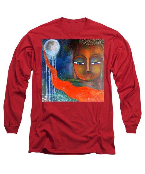 Buddhas Robe Reaching For The Moon Long Sleeve T-Shirt