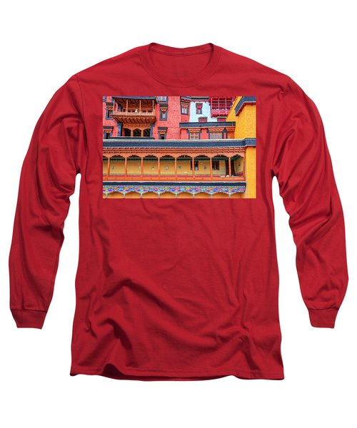 Long Sleeve T-Shirt featuring the photograph Buddhist Monastery Building by Alexey Stiop