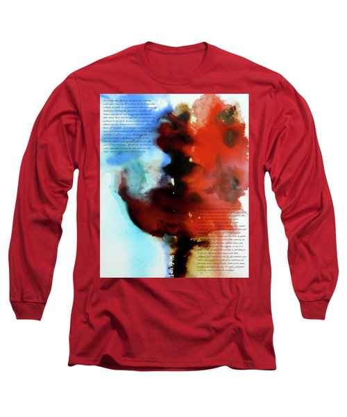 Long Sleeve T-Shirt featuring the painting Budding Romance by Jo Appleby