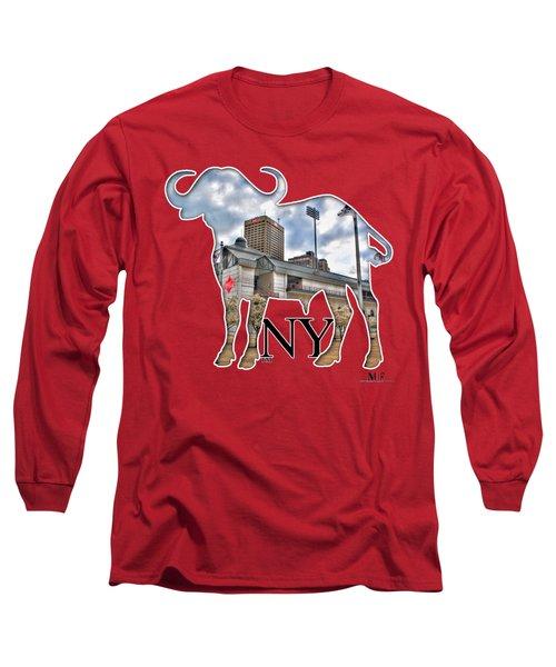 Buffalo Ny Coca Cola Field  Long Sleeve T-Shirt by Michael Frank Jr