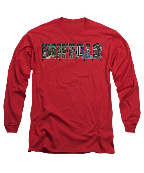 Buffalo Ny Niagara, Elmwood And Delaware Long Sleeve T-Shirt
