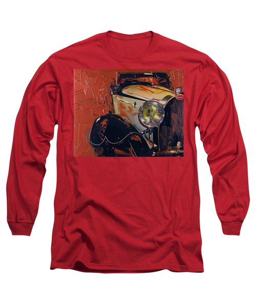 Long Sleeve T-Shirt featuring the photograph Bugatti Type 43 Roadster Luxe 1929 1 by Walter Fahmy