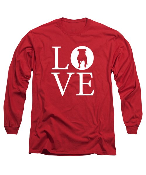 Bulldog Love Red Long Sleeve T-Shirt