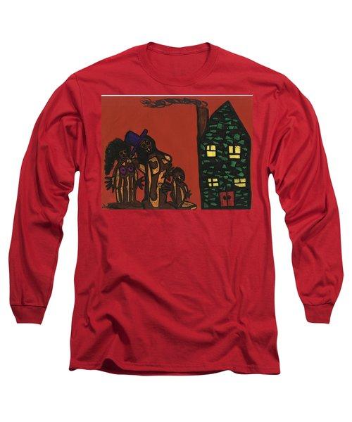 Bumpkin Dwellings Long Sleeve T-Shirt by Darrell Black