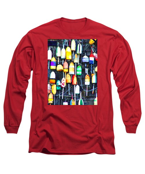 Long Sleeve T-Shirt featuring the photograph Buoy Art by Bill Holkham
