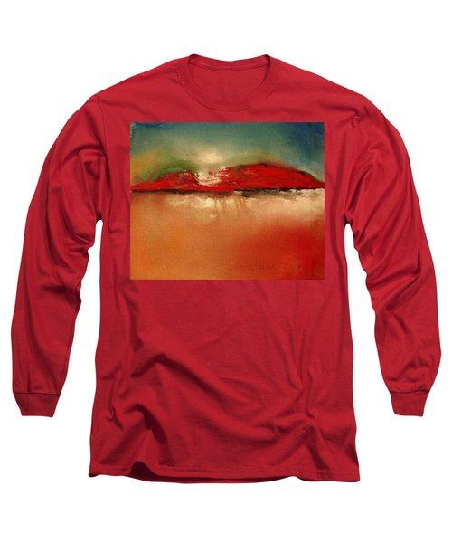 Burgundy Mountain Long Sleeve T-Shirt