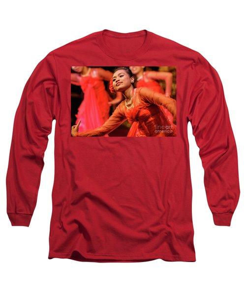 Burmese Dance 1 Long Sleeve T-Shirt by Werner Padarin