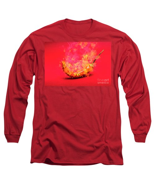Burning Red Hot Chili Pepper. Mexican Food Long Sleeve T-Shirt