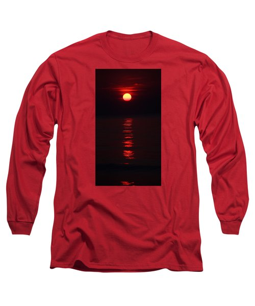 Burnt Orange Sunrise Long Sleeve T-Shirt