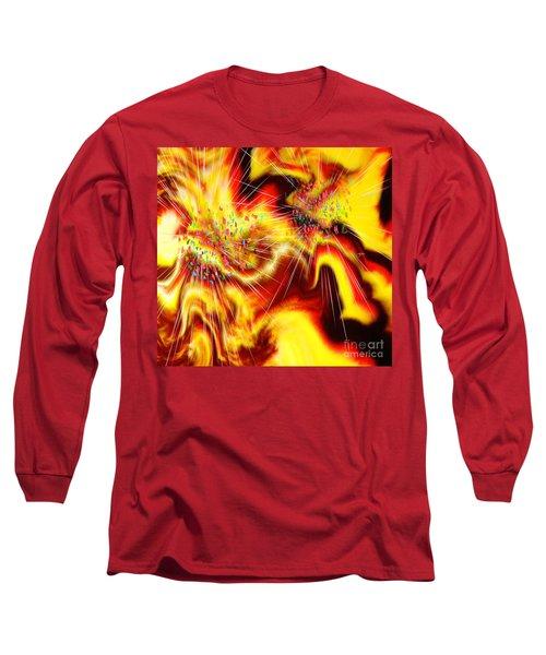 Burst Of Energy Long Sleeve T-Shirt by Belinda Threeths