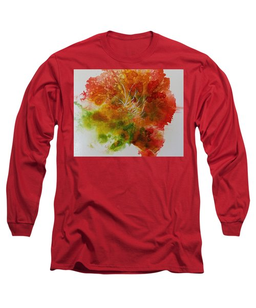 Long Sleeve T-Shirt featuring the painting Burst Of Nature by Carolyn Rosenberger
