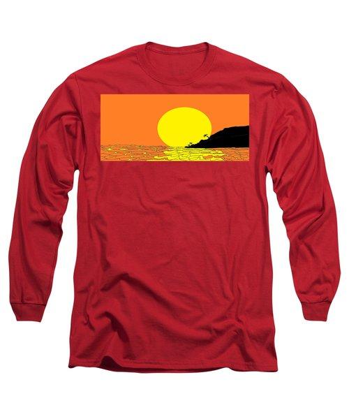 Burst Of Yellow Long Sleeve T-Shirt by Linda Velasquez