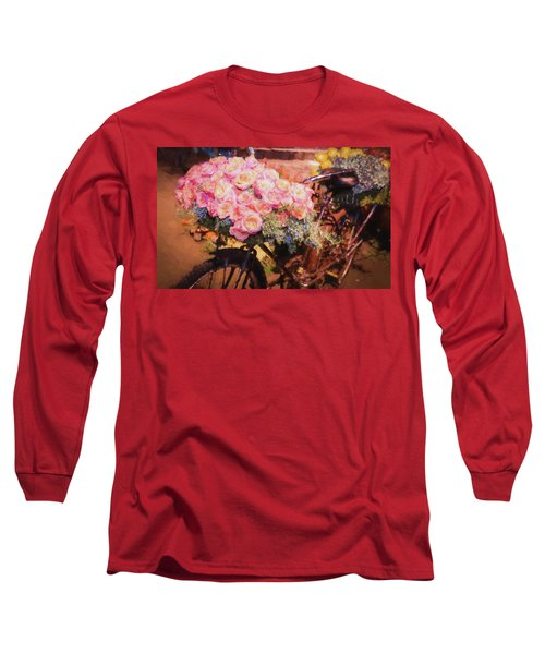Bursting With Flowers Long Sleeve T-Shirt by Patrice Zinck