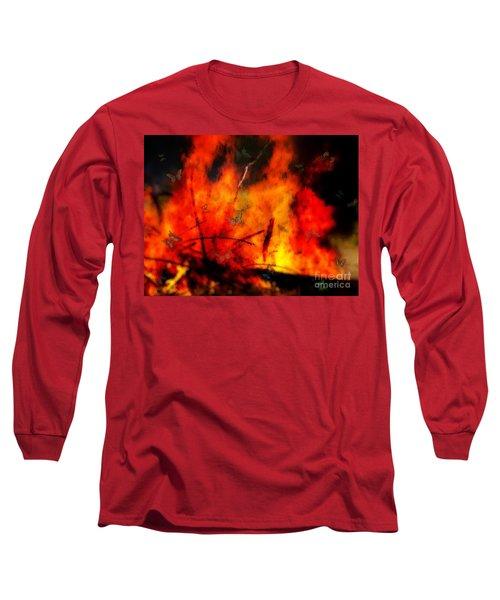 Butterflies And Flame Long Sleeve T-Shirt
