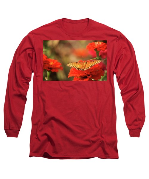 Butterfly And Flower I Long Sleeve T-Shirt