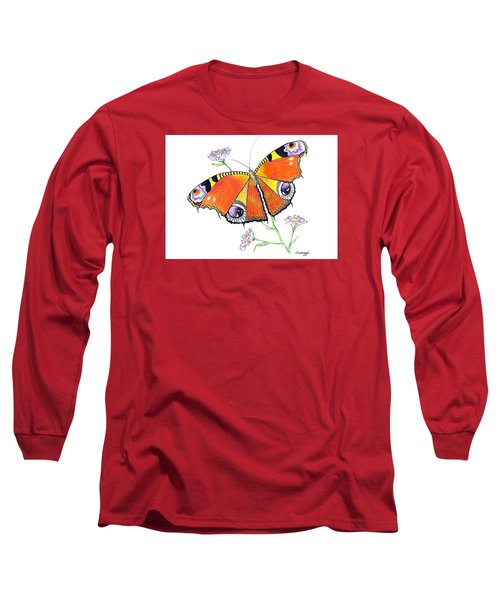 Butterfly Dressed For A Masquerade Ball Long Sleeve T-Shirt