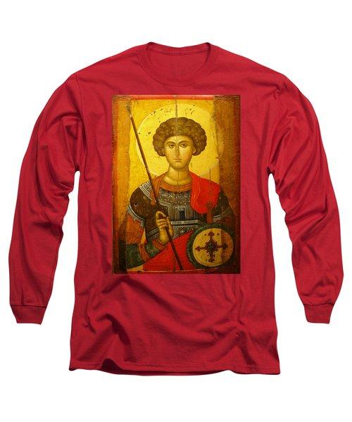 Byzantine Knight Long Sleeve T-Shirt by Ellen Henneke
