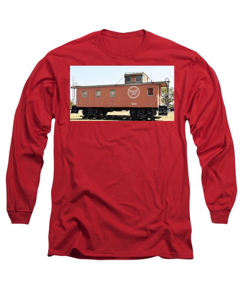 Long Sleeve T-Shirt featuring the photograph Caboose by Ray Shrewsberry