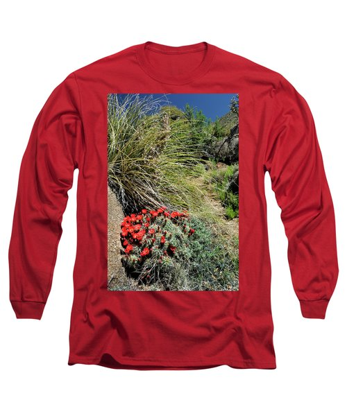 Crimson Barrel Cactus Long Sleeve T-Shirt