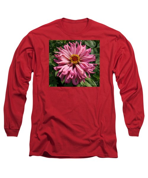 Long Sleeve T-Shirt featuring the photograph Cactus Petal Zinnia by Jeanette French