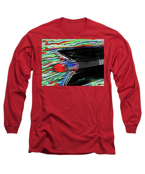 Cadillac Tail Fin Guitar Fantasy Long Sleeve T-Shirt