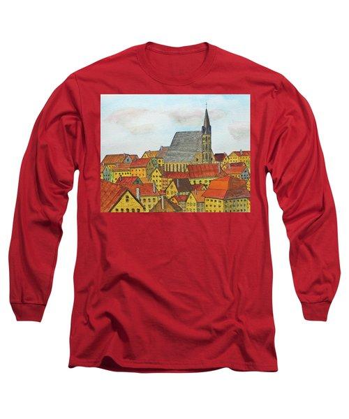 Cesky Krumlov Long Sleeve T-Shirt by Jack G Brauer
