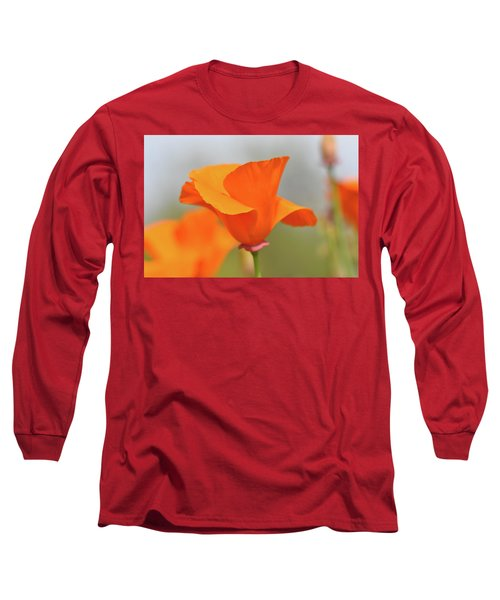 California State Poppy Macro Long Sleeve T-Shirt