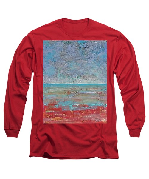 Long Sleeve T-Shirt featuring the painting Calm Before The Storm by Walter Fahmy