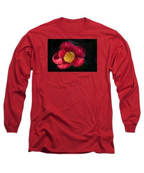 Camellia In Rain Long Sleeve T-Shirt by Catherine Lau