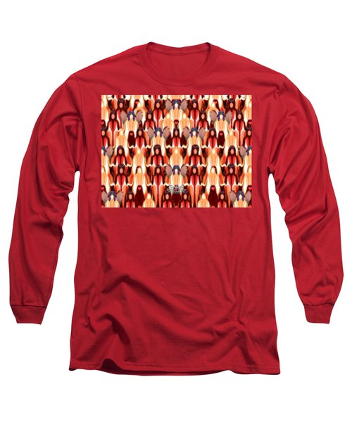 Candle Inspired #1173-8 Long Sleeve T-Shirt by Barbara Tristan