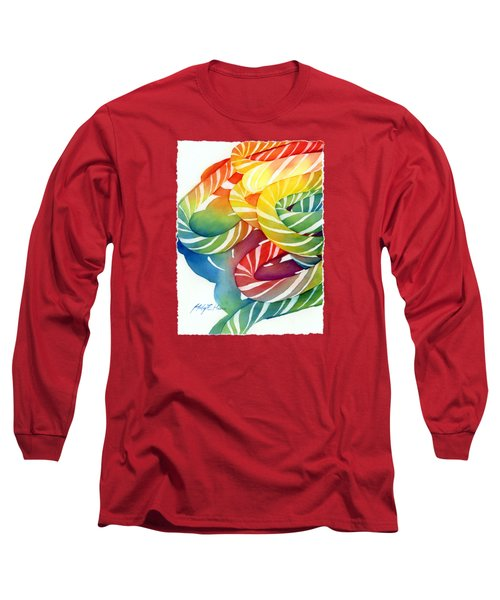 Candy Canes Long Sleeve T-Shirt by Hailey E Herrera
