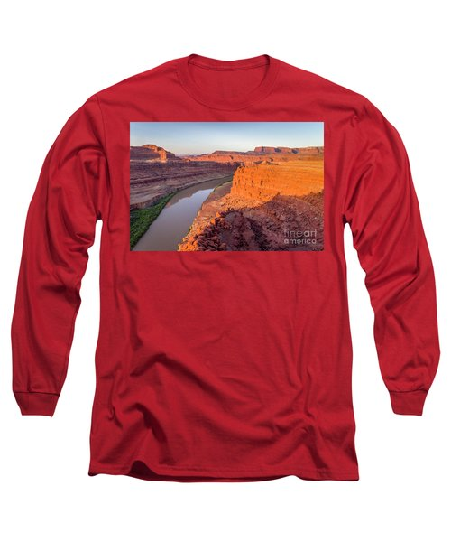 Canyon Of Colorado River - Sunrise Aerial View Long Sleeve T-Shirt
