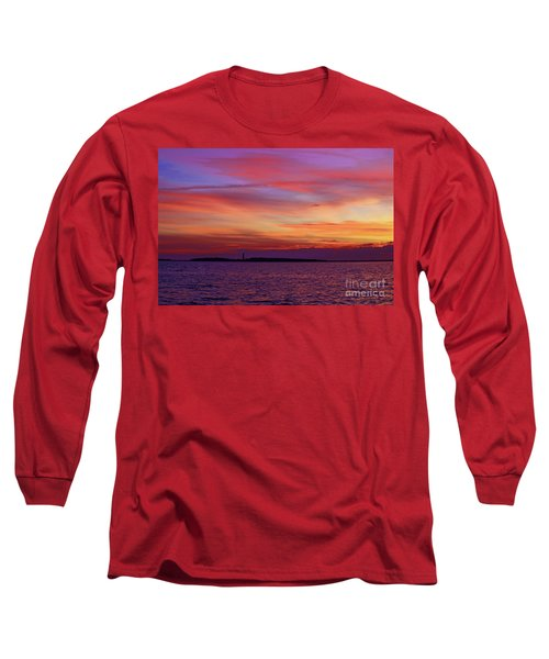 Cape Lookout Lighthouse At Sunrise Long Sleeve T-Shirt