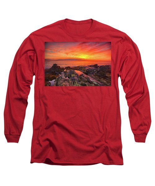 Cape Neddick Sunrise Long Sleeve T-Shirt