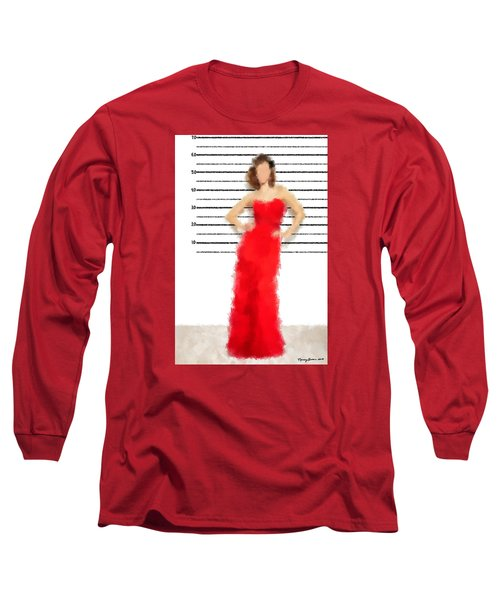 Long Sleeve T-Shirt featuring the digital art Carmela by Nancy Levan