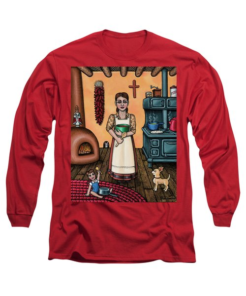 Carmelitas Kitchen Art Long Sleeve T-Shirt