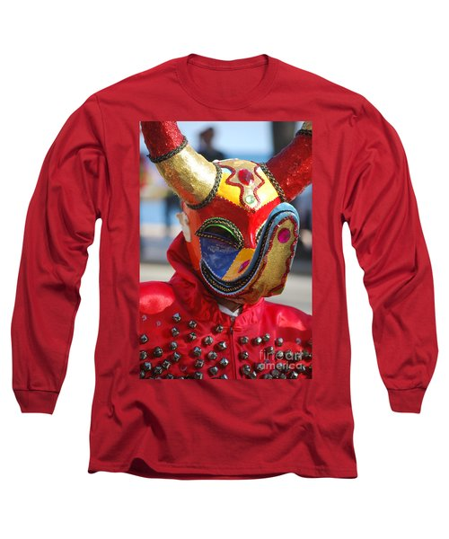 Carnival Red Duck Portrait Long Sleeve T-Shirt