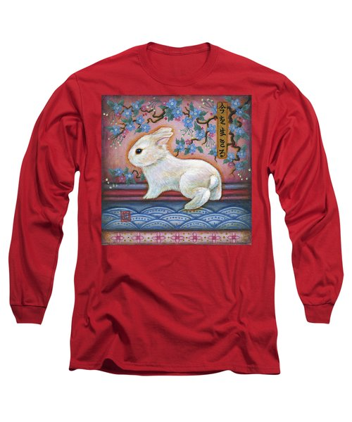 Carpe Diem Rabbit Long Sleeve T-Shirt by Retta Stephenson