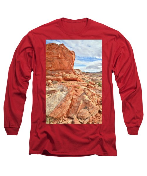Castle High Above Wash 5 In Valley Of Fire Long Sleeve T-Shirt by Ray Mathis