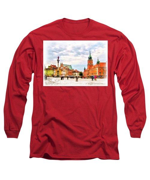 Castle Square, Warsaw Long Sleeve T-Shirt by Maciek Froncisz