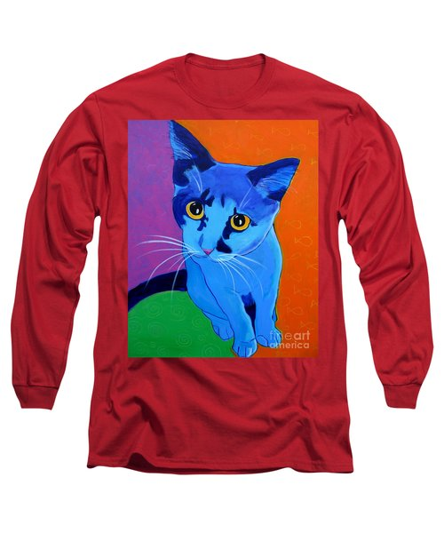 Cat - Kitten Blue Long Sleeve T-Shirt