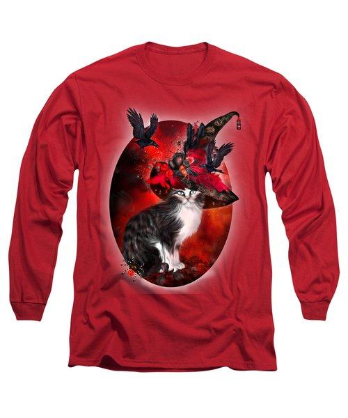 Cat In Fancy Witch Hat 1 Long Sleeve T-Shirt