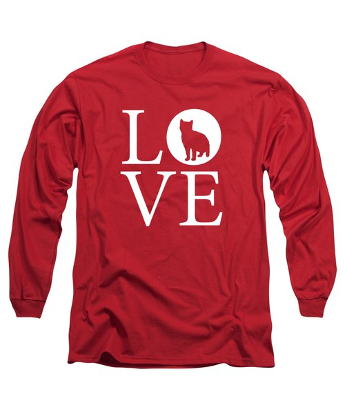 Cat Love Red Long Sleeve T-Shirt