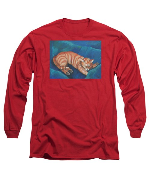 Cat Napping Long Sleeve T-Shirt