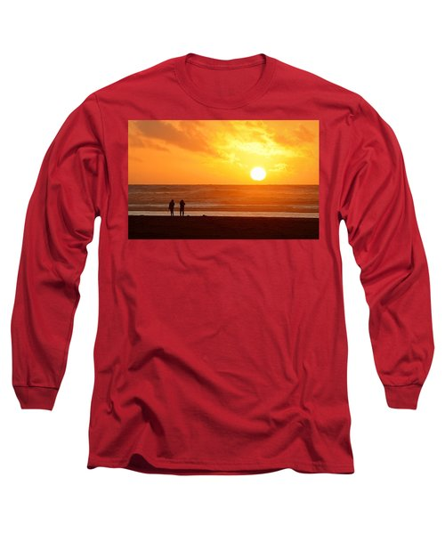 Long Sleeve T-Shirt featuring the photograph Catching A Setting Sun by AJ Schibig