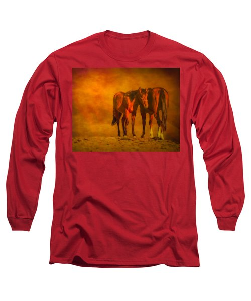 Catching The Last Sun Digital Painting Long Sleeve T-Shirt